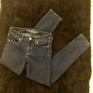 American Eagle | dark wash skinny jeans 4 Long